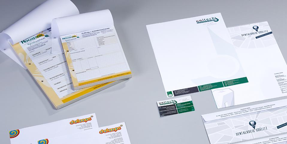Druckerei Olpe - Visitenkarten, Blöcke, Schulungsmaterialien